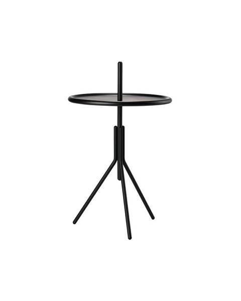 Zone Čierny kovový odkladací stolík Zone Inu, ø 33,8 cm