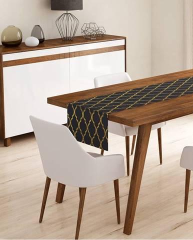 Behúň na stôl Minimalist Cushion Covers Black Ogea, 45 x 140 cm
