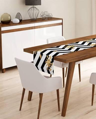 Behúň na stôl Minimalist Cushion Covers Colorful White Zigzag, 45 x 140 cm