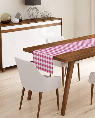 Behúň na stôl Minimalist Cushion Covers Pink Flannel, 45 x 140 cm