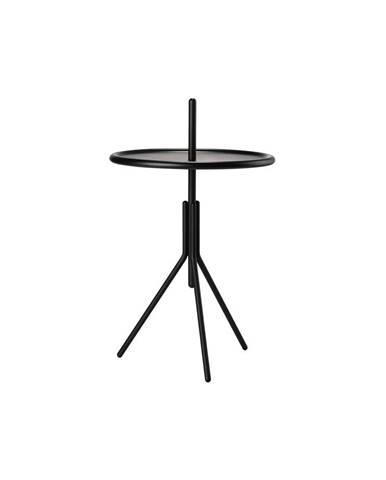 Čierny kovový odkladací stolík Zone Inu, ø 33,8 cm