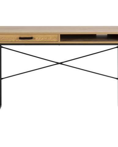Pracovný stôl v dekore divokého duba Actona, 110 x 45 cm