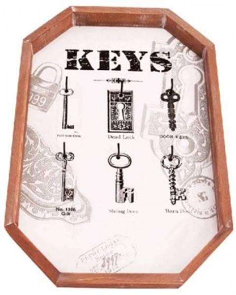 ASKO - NÁBYTOK Nástenný panel na kľúče so 6 háčikmi 165031%