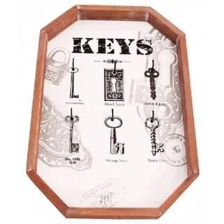 Nástenný panel na kľúče so 6 háčikmi 165031%