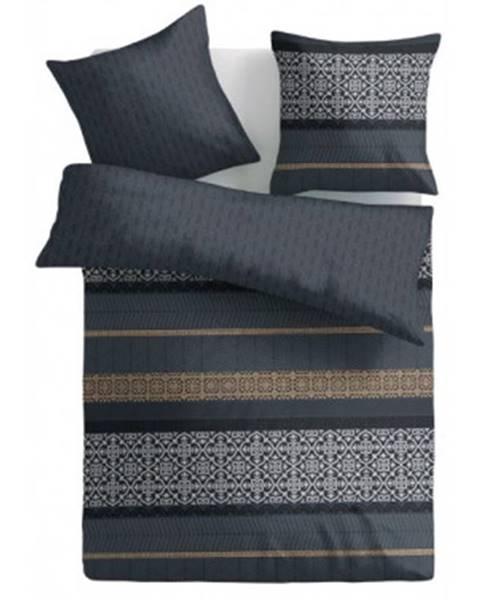 ASKO - NÁBYTOK Obliečky 140x200 cm, šedé s ornamentami%