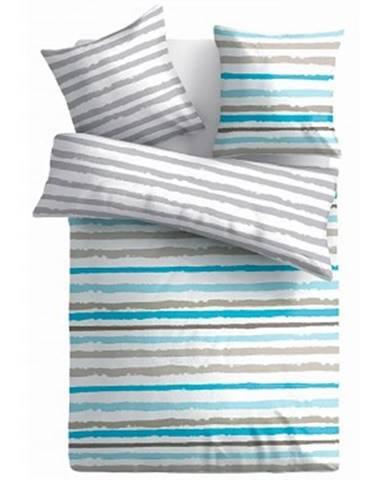 Obliečky Ranforce 140x200 cm, modro-farebné obojstranné%