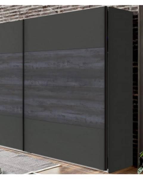ASKO - NÁBYTOK Šatník s posuvnými dverami Göteborg, 270 cm%