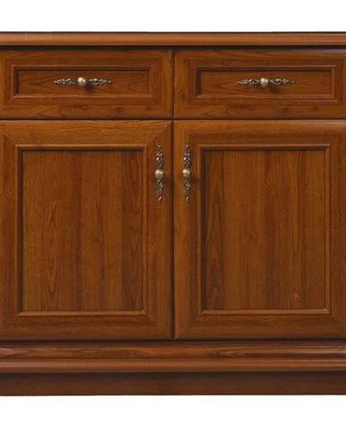 Komoda SONATA gaštan, 2-dverová/2 zásuvky
