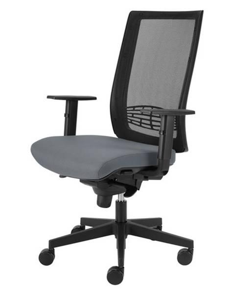 Sconto Kancelárska stolička CAMERON sivá
