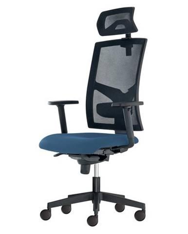 Kancelárska stolička PAIGE modrosivá