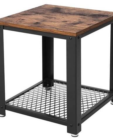 Prístavný stolík LET41X čierna/prírodná