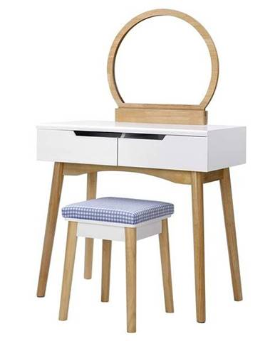 Toaletný stolík ESMEE dub/biela