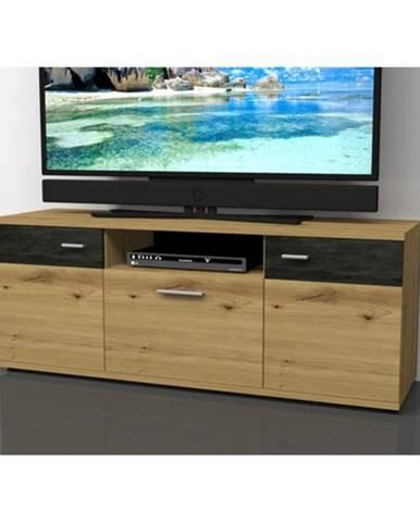 TV komoda NICOLAS dub artisan, výška 59 cm