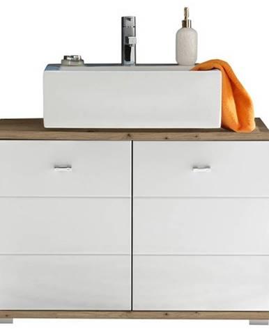 Umývadlová skrinka POOL, 80 cm dub artisan/biela