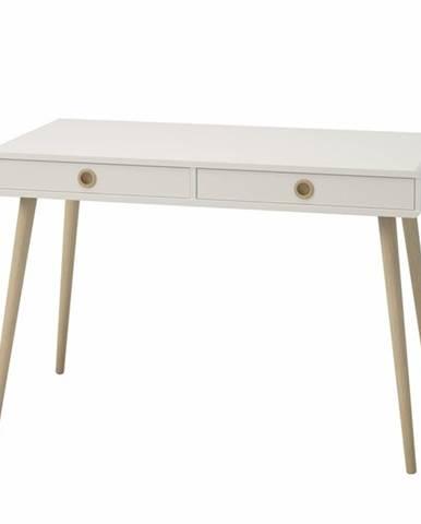 Písací stôl JOSHUA biela, 114x57 cm