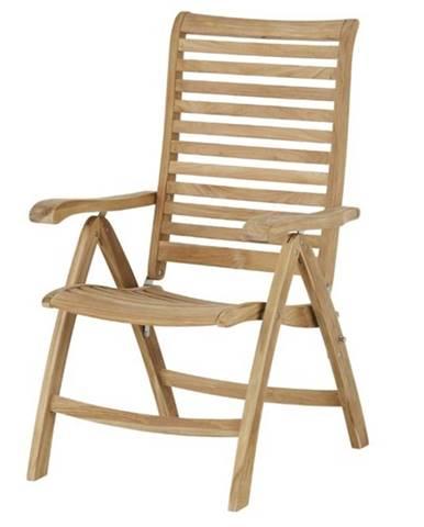 Polohovacia stolička CAMBRIDGE PREMIUM teakové drevo