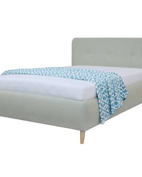 Sconto Čalúnená posteľ NOELA svetlozelená, 140x200