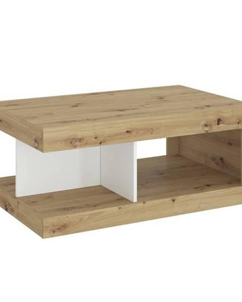 Sconto Konferenčný stolík LUCI dub artisan/biela/tmavosivá