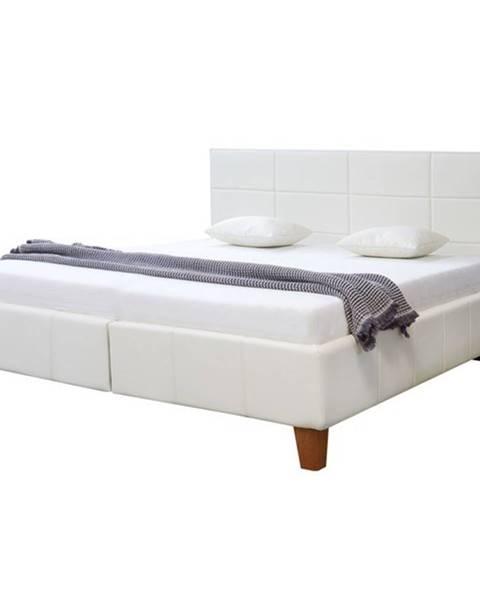 Sconto Posteľ GORDANA biela, 180x200 cm