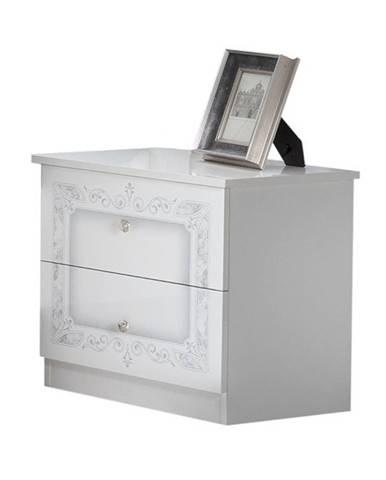 Nočný stolík PAYTON biela, 2 kusy