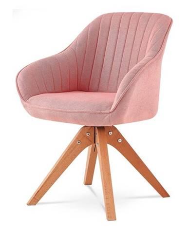 Jedálenská stolička CHIP I ružová/buk