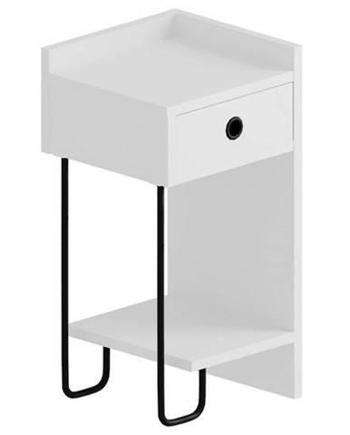 Nočný stolík CACTUS biela, ľavé vyhotovenie