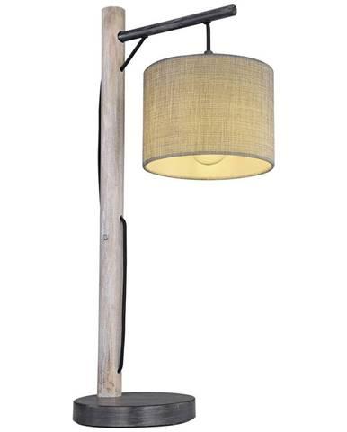 Stolná Lampa Sivá Roger Drevo/textil