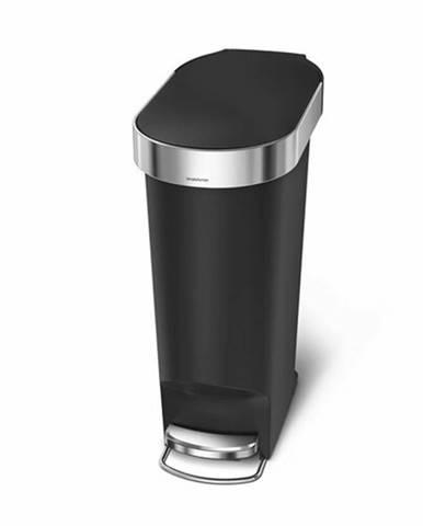 Simplehuman Pedálový oválny odpadkový kôš 40 l, čierna
