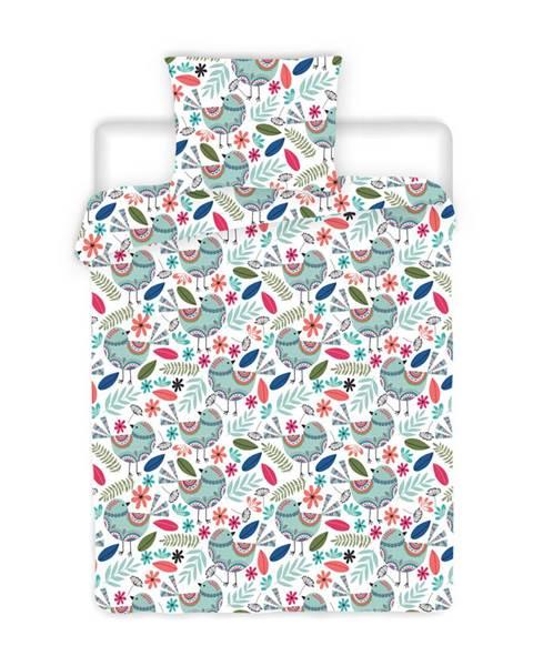 4Home 4Home Krepové obliečky Birds, 220 x 200 cm, 2 ks 70 x 90 cm