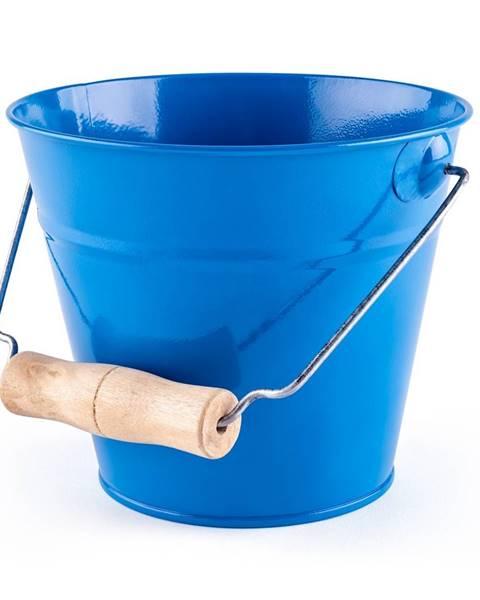 Woody Woody Záhradné kovové vedierko 15 x 13 cm, modrá