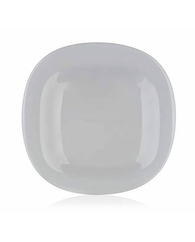 Luminarc Hranatý dezertný tanier CARINE 19 cm, 6 ks, sivá