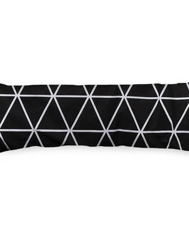 4Home Obliečka na Relaxačný vankúš Náhradný manžel Galaxy čiernobiela, 50 x 150 cm
