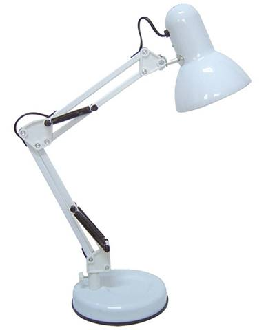 Rabalux Stolná lampa biela E27 päticou 4211