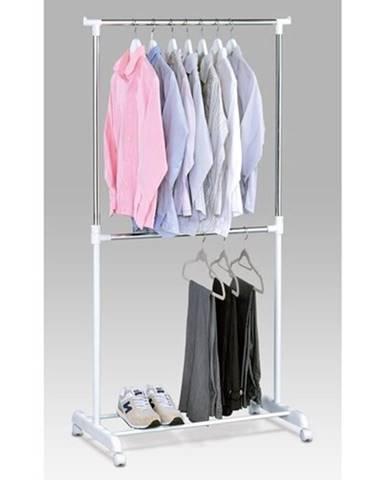 Stojan na šaty chróm / biela, 80 x 170 cm