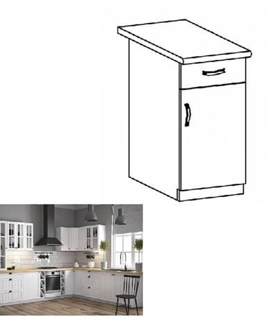 Dolná skrinka so šuplíkom D40S1 biela/sosna andersen pravá PROVANCE