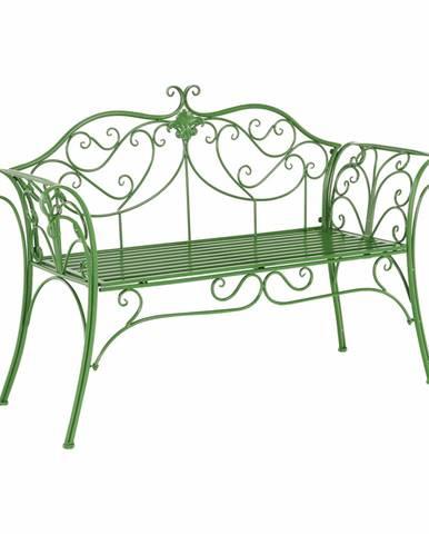 Záhradná lavička zelená ETELIA