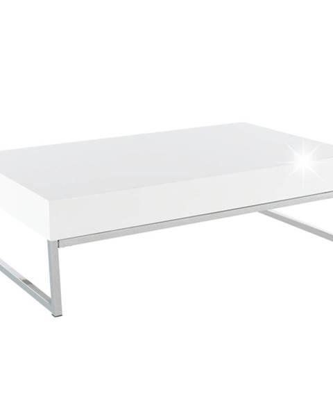 Tempo Kondela Konferenčný stolík biela extra vysoký lesk HG LOTTI poškodený tovar