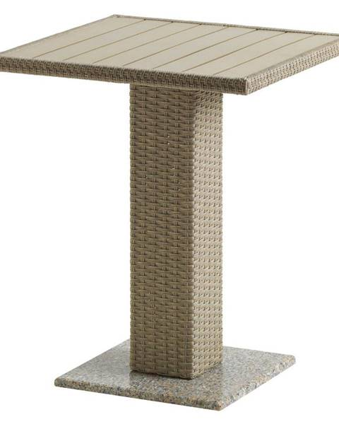 Tempo Kondela Záhradný jedálenský stôl prírodná ratan/žula/Artwood THY