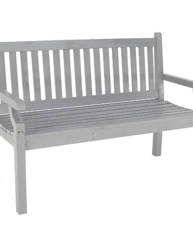 Drevená záhradná lavička sivá 124 cm KOLNA
