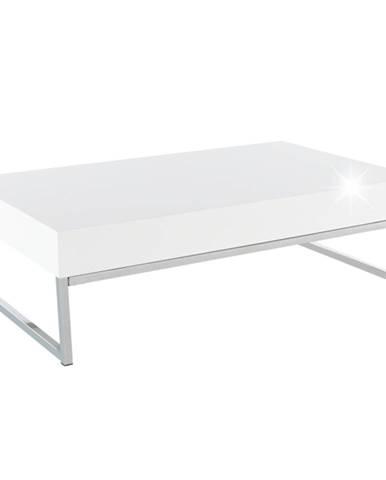 Konferenčný stolík biela extra vysoký lesk HG LOTTI poškodený tovar