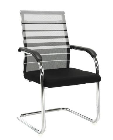 Zasadacia stolička sivá/čierna ESIN rozbalený tovar