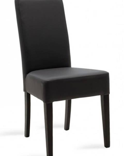 OKAY nábytok Jedálenská stolička Dasha wenge, sivá