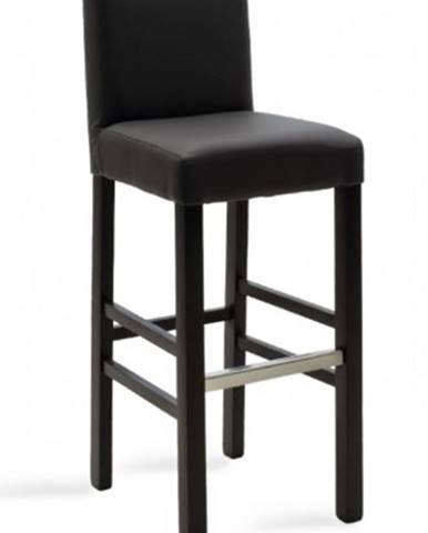 Barová stolička Dasha wenge, sivá