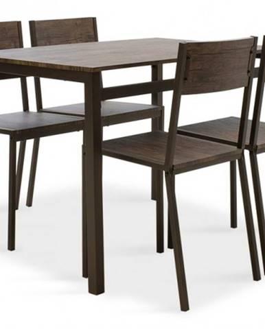 Jedálenský set Mabel - 4x stolička, 1x stôl