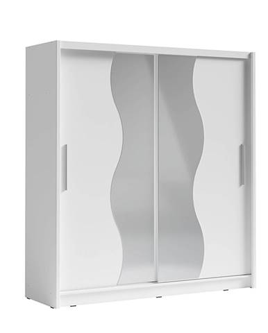 Skriňa s posúvacími dverami biela BIRGAMO TYP 1