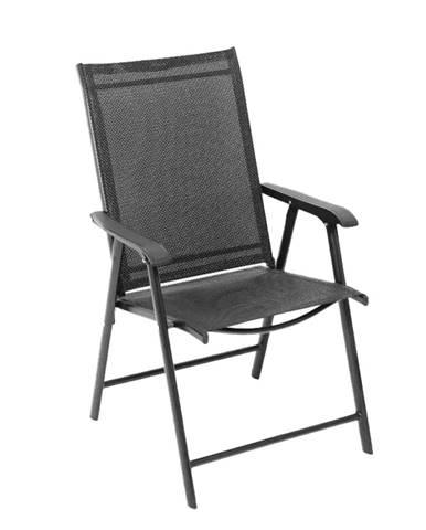 Skladacia zahradná stolička čierna Adola