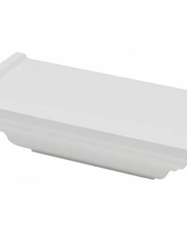 Polica na stenu Duraline Classic 25 cm, biela%