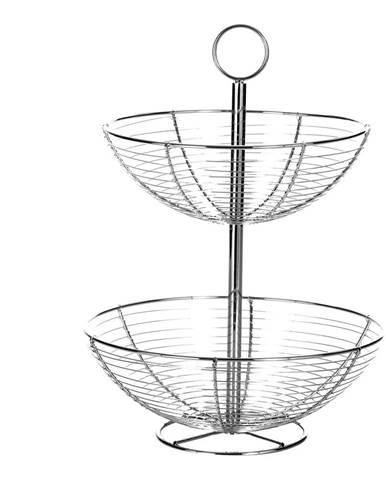 Dvojposchodový stojan z kovu Unimasa Baker, výška 41cm