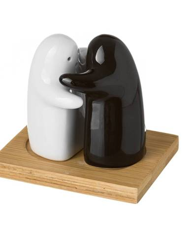 Set koreničky a soľničky z keramiky Unimasa Ghosts