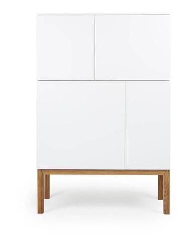 Biela štvordverová skrinka Tenzo Patch, 92 x 138 cm